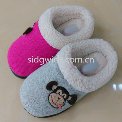 Slippers with monkey print for children