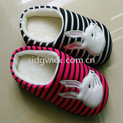 Slippers with rabbit print for children