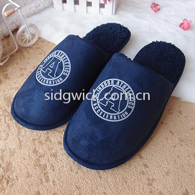 Club logo indoor slippers for men