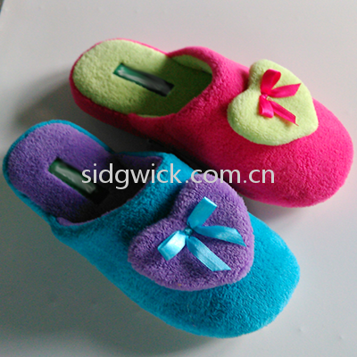 Cute cotton slippers with bowknot for men and women